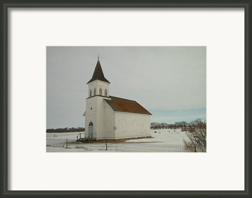 An Old Church In North Dakota Framed Print By Jeff  Swan