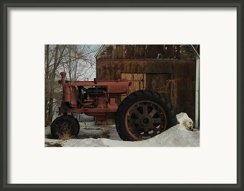 An Old John Deer Framed Print By Jeff  Swan