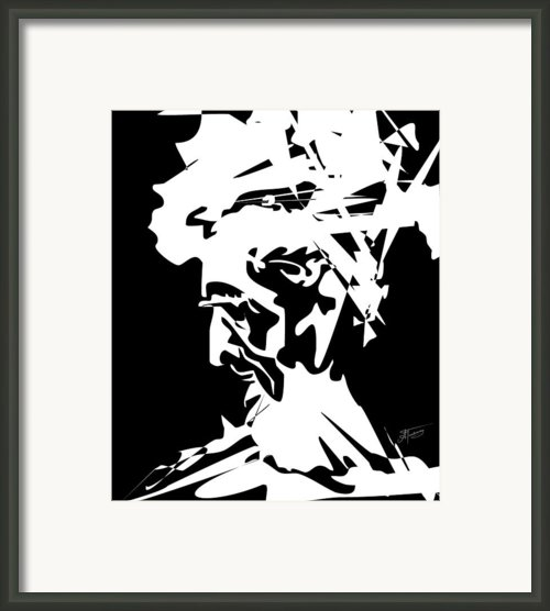 An Old Man Framed Print By Alex Tavshunsky