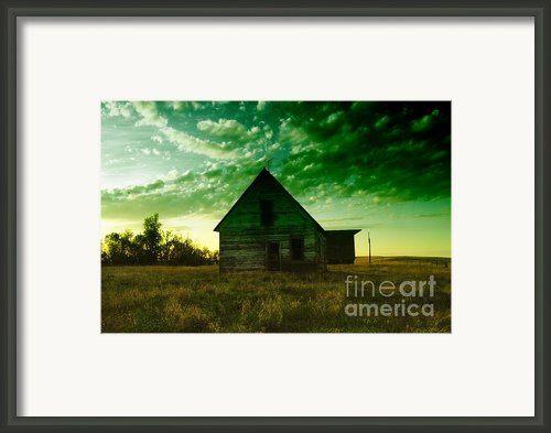 An Old North Dakota Farm House Framed Print By Jeff  Swan