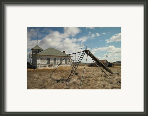 An Old School Near Miles City Montana Framed Print By Jeff  Swan
