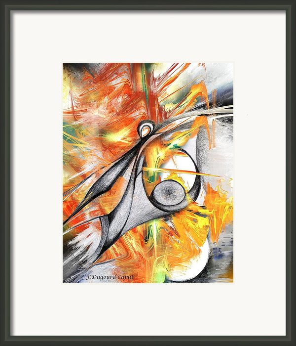 Anagram Framed Print By Francoise Dugourd-caput