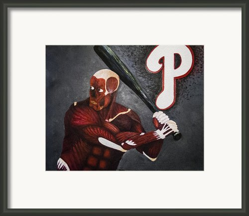Anatomy At Bat Framed Print By Leslie Ann Hammer