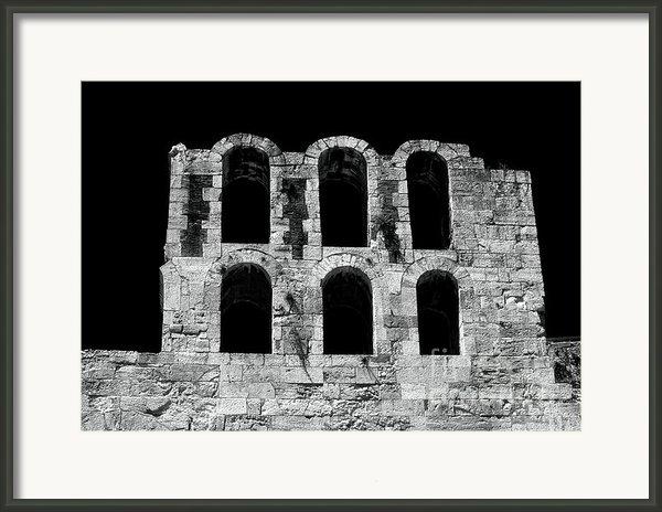 Ancient Greek Ruins Framed Print By John Rizzuto