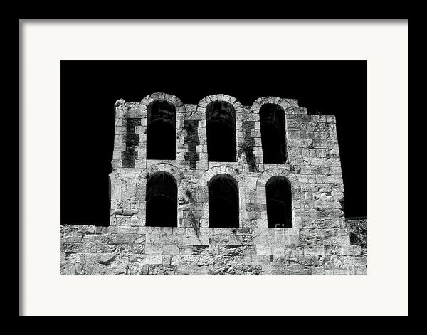 Ancient Greek Ruins Framed Print By John Rizzuto