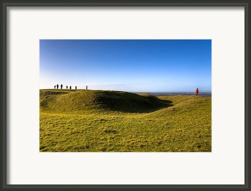 Ancient Hill Of Tara In The Winter Sun Framed Print By Mark Tisdale