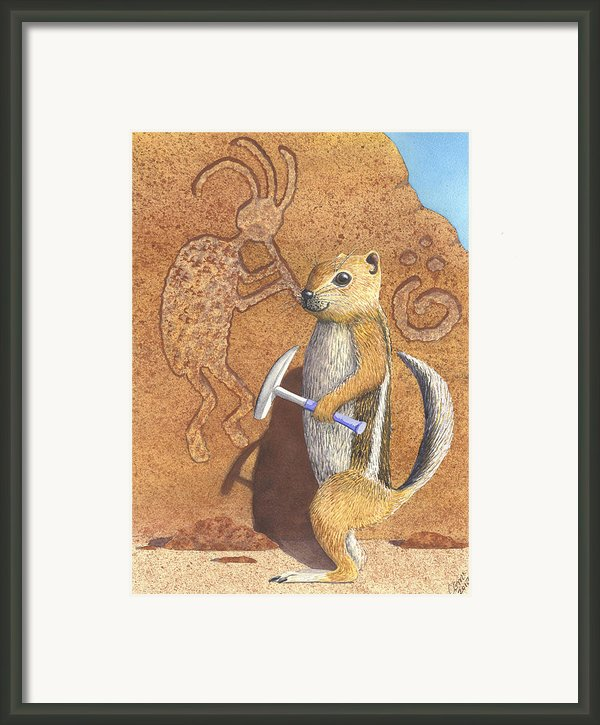 And You Thought It Was The Anasazi Framed Print By Catherine G Mcelroy