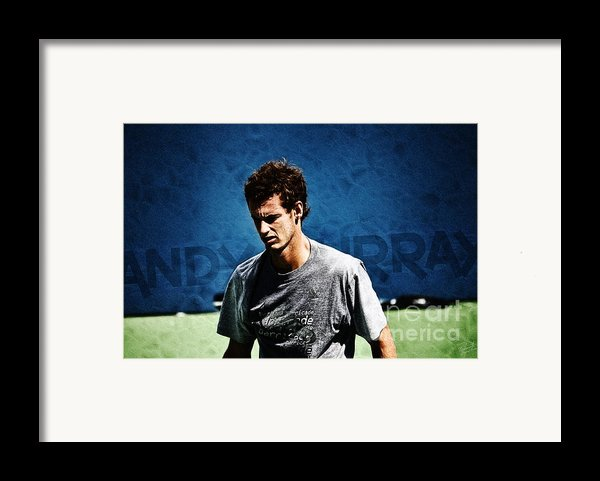 Andy Murray Framed Print By Nishanth Gopinathan