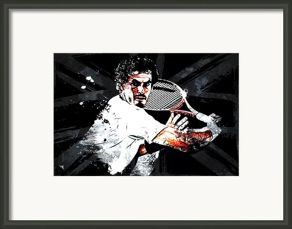 Andy Murray Framed Print By The Digartist