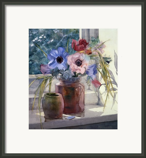 Anemones Framed Print By Julia Rowntree