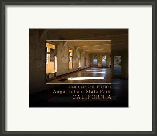 Angel Island State Park California  - East Garrison Hospital Framed Print By David Rigg
