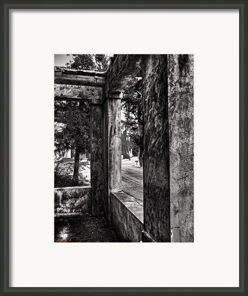 Angel Island State Park California - East Garrison Porch Framed Print By David Rigg
