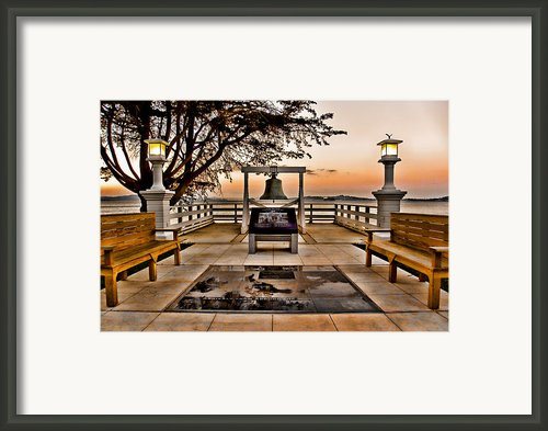 Angel Island State Park - China Cove Usis - United States Immigration Station California Framed Print By David Rigg