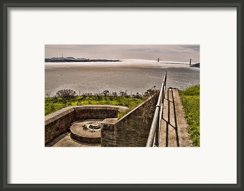 Angel Island State Park In San Francisco Bay California - Defending The Bay Framed Print By David Rigg