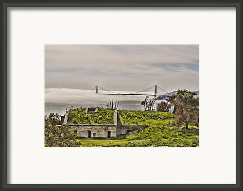 Angel Island State Park In San Francisco Bay California  - Defending The Bay - Hdr Framed Print By David Rigg