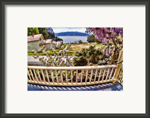 Angel Island - The Generals Veranda Framed Print By David Rigg