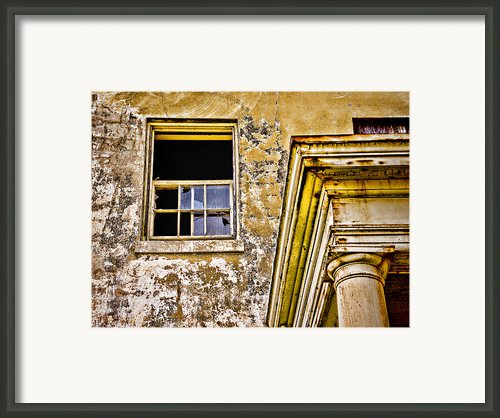 Angel Island - The Window On Officers Row Housing - San Francisco Bay California - Hdr Framed Print By David Rigg