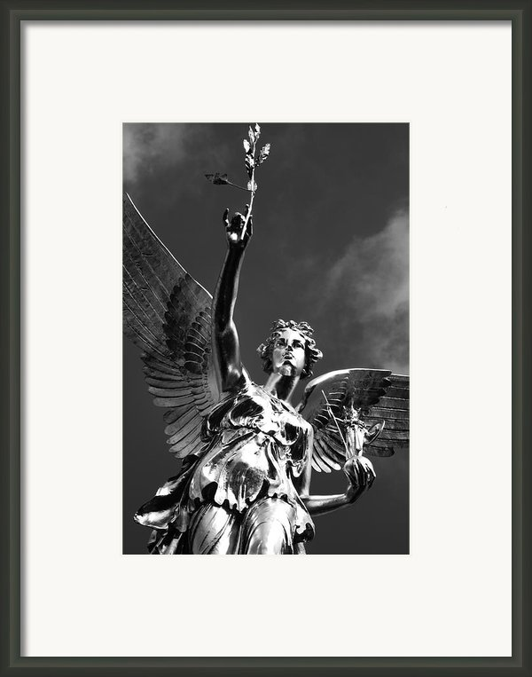 Angel Of Peace Framed Print By Marc Huebner