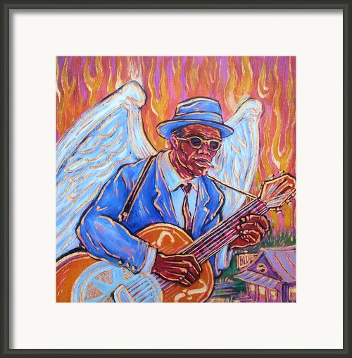Angel Of The Blues Framed Print By Robert Ponzio