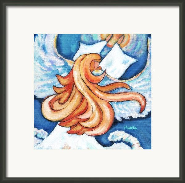 Angel On A Mission Framed Print By Marla Hoover