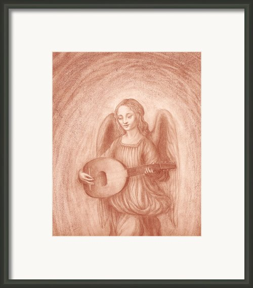 Angel With Lute After Leonardo Framed Print By Kimberlee Cline-dallaire