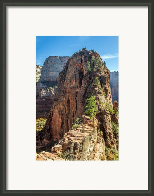 Angels Landing In Zion Framed Print By Pierre Leclerc