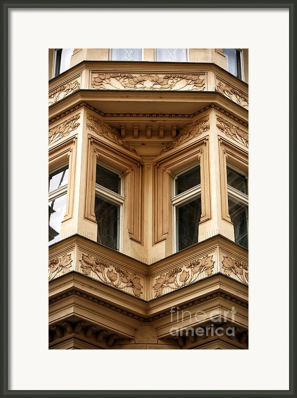 Angled Windows Framed Print By John Rizzuto