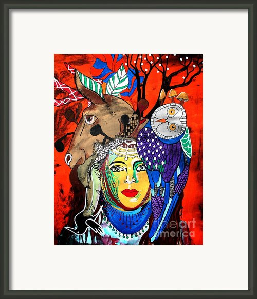 Animal Basket Framed Print By Amy Sorrell
