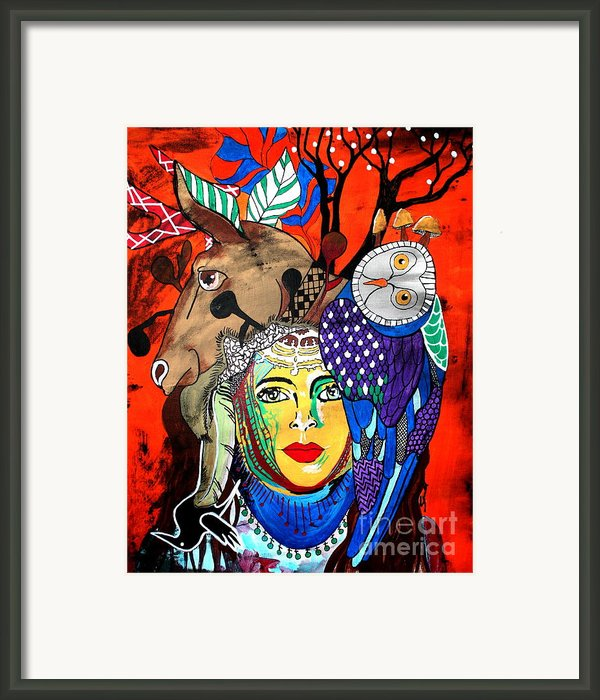 Animal Basket Framed Print By Amy Sorrell