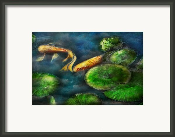 Animal - Fish - The Shy Fish  Framed Print By Mike Savad
