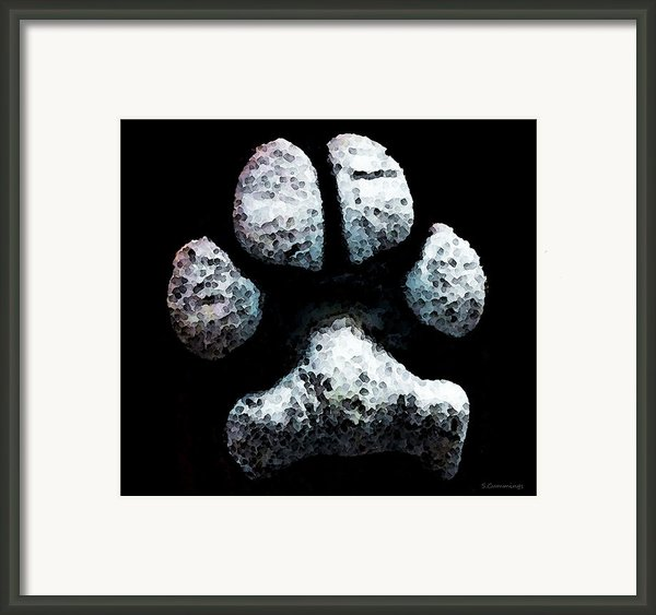 Animal Lovers - South Paw Framed Print By Sharon Cummings