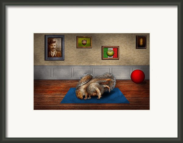 Animal - Squirrel - And Stretch Two Three Four Framed Print By Mike Savad