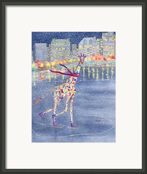 Annabelle On Ice Framed Print By Rhonda Leonard