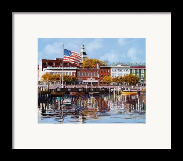 Annapolis Framed Print By Guido Borelli