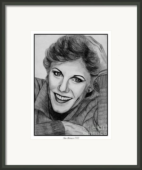 Anne Murray In 1983 Framed Print By J Mccombie
