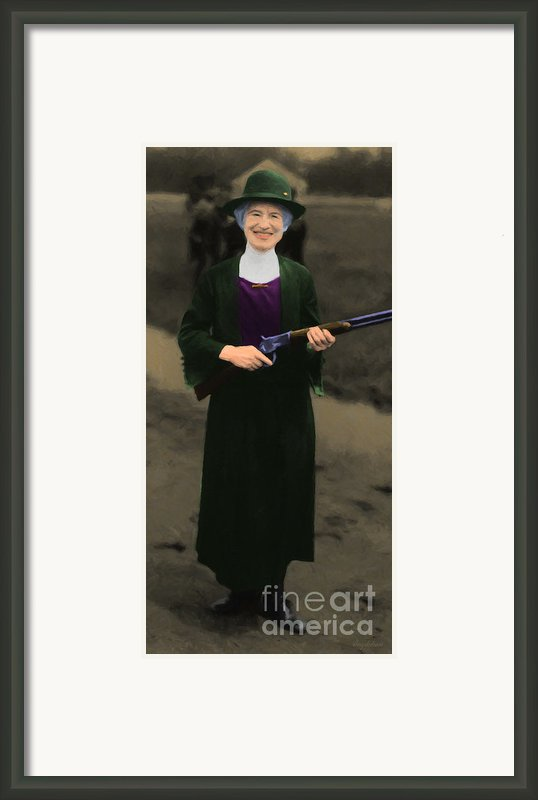 Annie Oakley 20130514 Long Framed Print By Wingsdomain Art And Photography