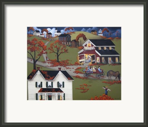 Annual Barn Dance And Hayride Framed Print By Catherine Holman