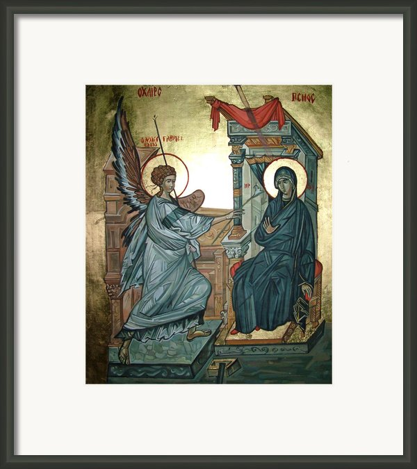 Annunciation Framed Print By Filip Mihail
