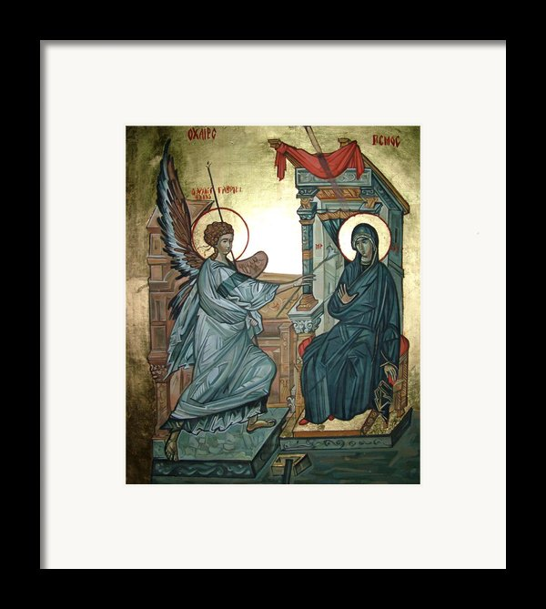 Annunciation Framed Print By Filip Mihail