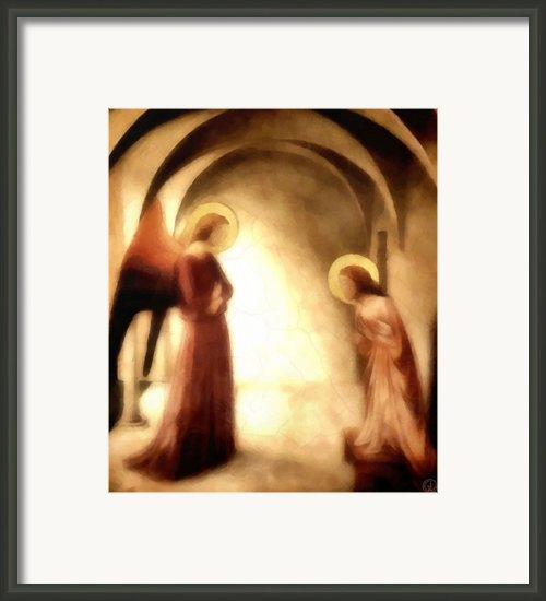 Annunciation Framed Print By Gun Legler