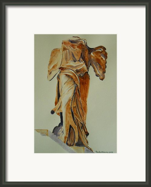 Another Perspective Of The Winged Lady Of Samothrace  Framed Print By Geeta Biswas