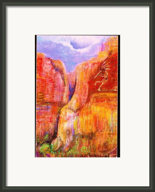 Another View Of Kokopelli Framed Print By Anne-elizabeth Whiteway