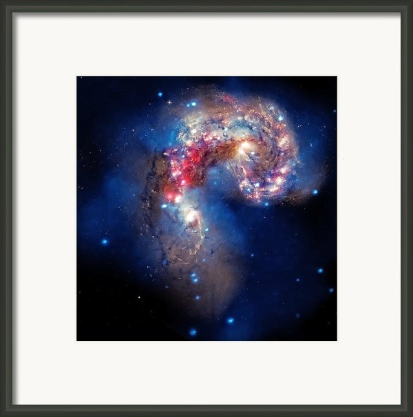 Antennae Galaxies Collide 2 Framed Print By The  Vault - Jennifer Rondinelli Reilly