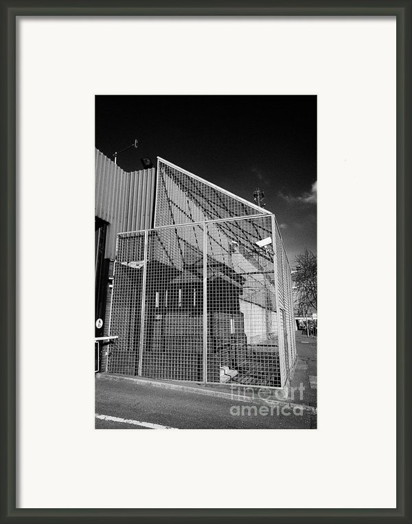 Anti Rpg Cage Surrounding Observation Sanger At North Queen Street Psni Police Station Belfast North Framed Print By Joe Fox