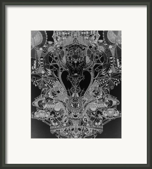 Antichrist Negative Framed Print By Michael Kulick