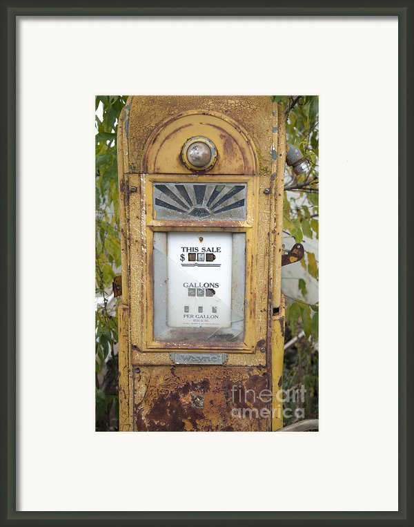 Antique Gas Pump Framed Print By Peter French