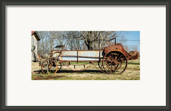 Antique Hay Bailer 2 Framed Print By Douglas Barnett