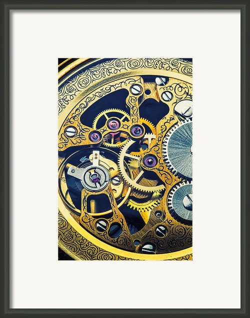 Antique Pocket Watch Gears Framed Print By Garry Gay