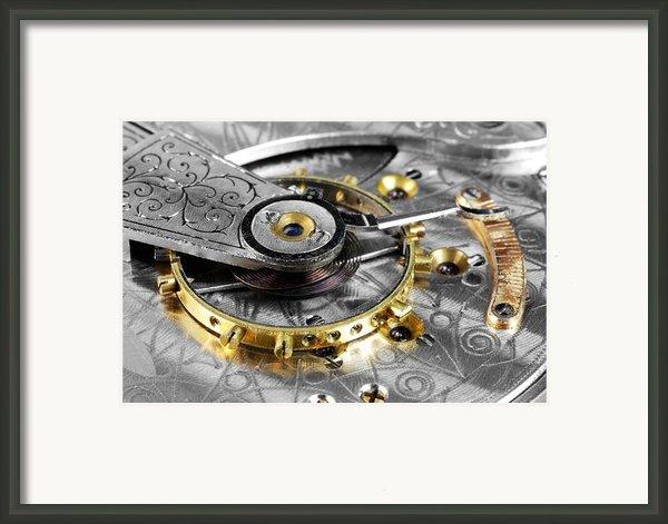 Antique Pocketwatch Balance Wheel Framed Print By Jim Hughes
