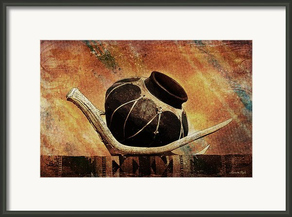 Antler And Olla Framed Print By Karen Slagle